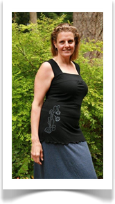 Annabelle top black with  art nouveau flowers was 62.00 now 37.20